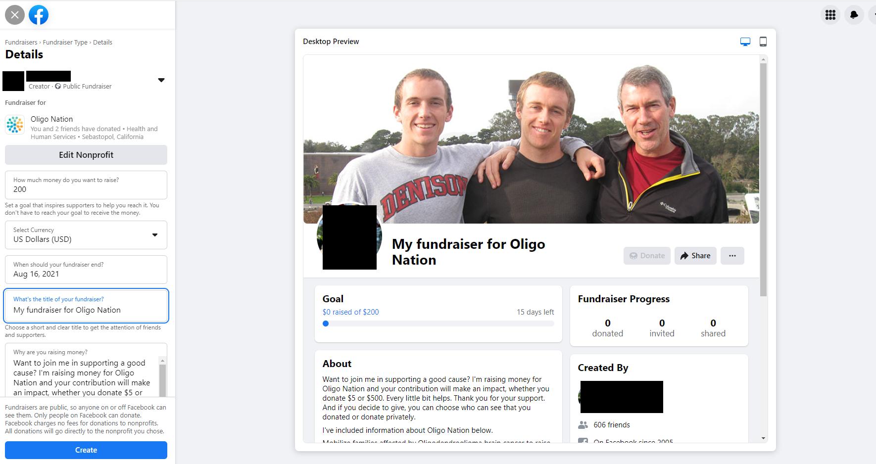 Oligo Nation Fundraiser